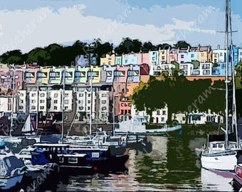 Bristol Harbourside Hotwells Digital Art Print