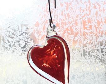 Glass Heart Sun Catcher