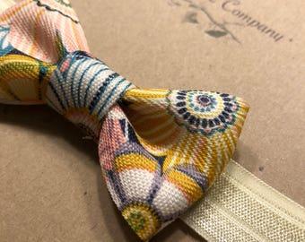 Vintage floral bow headband
