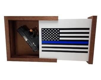 Blue Lives Matter Concealment Shelf
