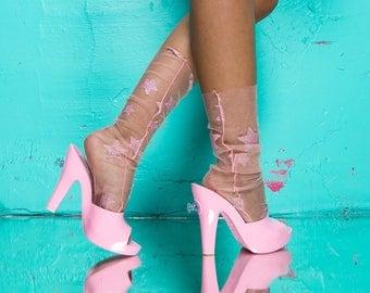 Glitter Stars Socks