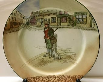 Royal Doulton England Dickens Ware Bill Sykes Plate