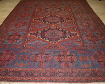 Antique Caucasian Derbent Region Soumac of Large Size, Superb Colour and Condition, Circa 1900.
