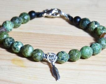 Men's bracelet, gift, handmade, natural stones
