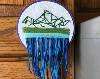 Mountain Dream Catcher Hand Embroidery