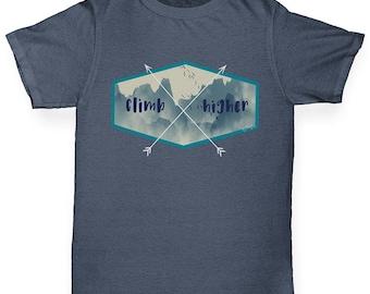 Boys Funny T Shirt Climb Higher Boy's T-Shirt