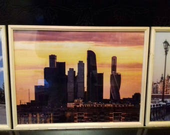 Beautiful pictures in frame with glass