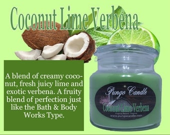 Coconut Lime Verbena Scented Jar Candle (16 oz.)!