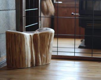 Wooden Chair/Object wooden stool, objet trois flechs
