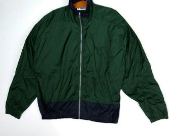 Vintage 90s FILA Windbreaker Jacket X-LARGE
