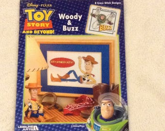 Toy Story and Beyond    Woody & Buzz   Cross Stitch Pamphlet
