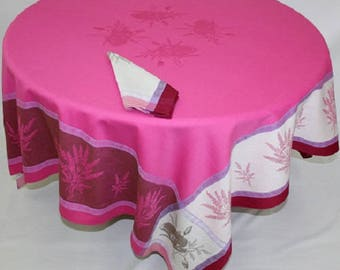 Apt Framboise Tablecloth, French Jacquard