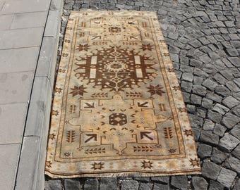 Rustic rug, Free Shipping 3.2 x 6.2 ft. turkish rug, bohemian area rug, floor rug, handknotted nomadic rug, ethnic rug, decorative rug MB286