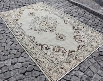 Free Shipping rustic rug, bohemian rug, ottoman rug, 5 x 8.7 ft. handknotted area rug, nomadic rug, floor rug, turkish area rug, MB467
