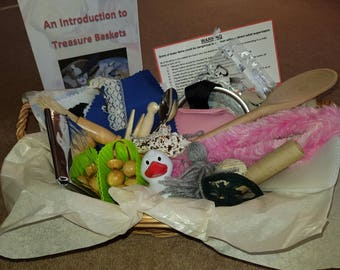 Baby Treasure Basket Sensory and Heuristic Play + Perfect Christening Gift + New Baby Gift UK SELLER