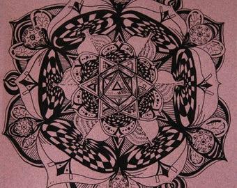 Ruby Recorder Mandala Art Print