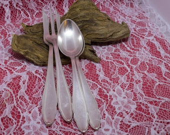 2 Chippendale spoons and forks, 1920s-1930s