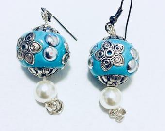 Turquoise Blue Chandelier Earrings