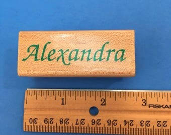 Alexandra,  Wood Mount Rubber Stamp