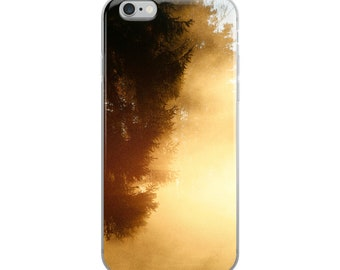 iPhone Case with Smoke Forest Photo