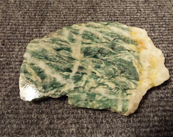 Gorgeous green and cream Zebra Jasper Slab