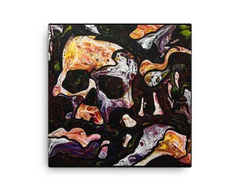 Skull Abstract - Giclee Print Canvas