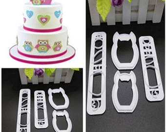 Owl Cake Fondant Molds Cute Animals Design DIY Food-grade Silicone 3D Cake Fondant Molds Fondant Baking Tool
