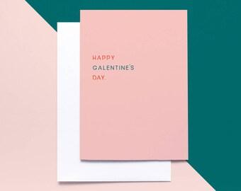 Happy Galentines Day Valentine's Card