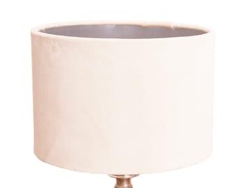 White velvet lampshades