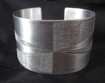 aluminium cuff bracelet