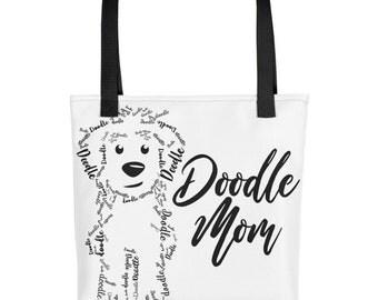 Doodle Mom Tote Bag - GoldenDoodle Gift, LabraDoodle, Bernadoodle, Sheepadoodle, Golden Doodle
