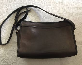 Vintage Gray Coach Shoulder Bag Purse Crossbody Bag 1990s.