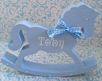 Rocking horse baby etsy baby boy freestanding wooden rocking horse nursery decor baby shower personalised baby gifts negle Image collections