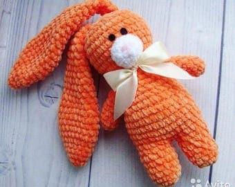 Soft orange rabbit