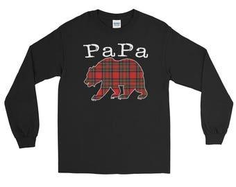 PaPa Bear Best Dad Long Sleeve T-Shirt