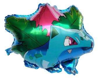 "26"" Ivysaur Pokemon Super Cute Balloon, Kids Birthday Party Decor"