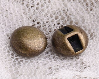 metal buttons 10pcs 9*5mm small buttons round bronze buttons one hole button for clothing accessories