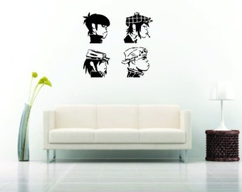 Gorillaz Wall Sticker Wall decal Vinyl