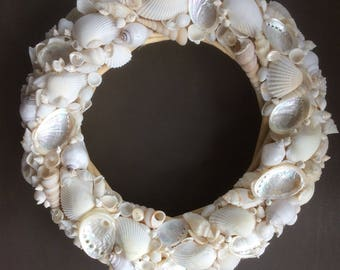 White Shell Wreath - Large