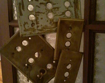 Reinvented Brass Switch Plate Wind Chimes