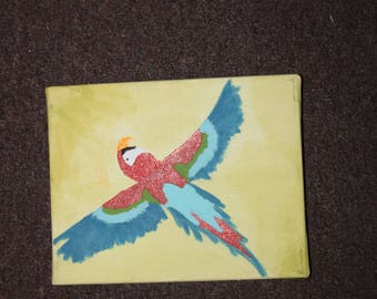 Parrot Painting on Canvas