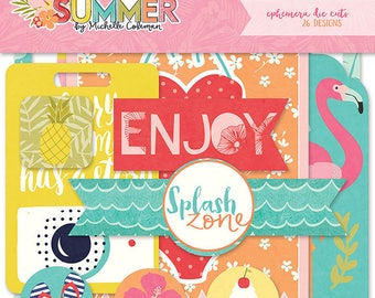 Photo Play For the love of Summer Ephemera Die Cuts