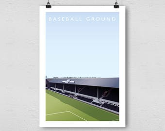 Derby County FC Baseball Ground A3 Poster