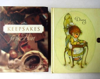 2 Vintage Diary & Mother's Keepsakes for the Heart