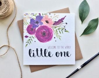 Botanical New Baby Card