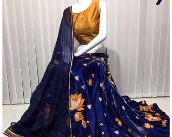 Indian latest party wear wedding mehndi sangeet new crop top skirt stitched lehenga choli ghagra chaniya choli dandiya garba navratri