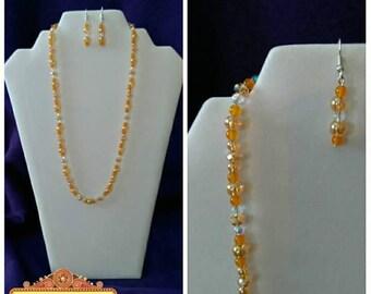 Fresh Sparkling Orange Jewelry Set