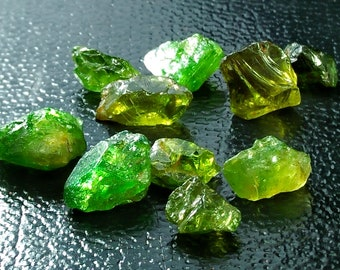 15.40 Unheated & Natural Green Tourmaline Rough Lot