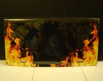 Flamed Vanity plate