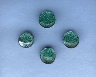 Mermaid Glitter - Glass Gem Magnets